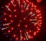 6″ Куля з червоної і синьої половин розділених кругом із срібних хвиль