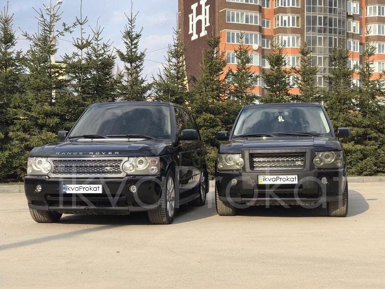 чорні джипи Range Rover