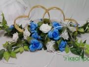 1,3 Серця на блакитному з білим 150 грн