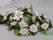 1,6 Біла троянда та лілія 150 грн