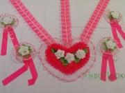 2.11 Набір Серце стрічки зав'язки рожевий 85 грн