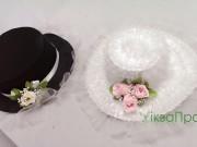 5,4 Шляпа Чорна та Біла 150 грн