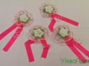 7,12 Біла квітка з рожевою стрічкою, 4 шт за 50 грн