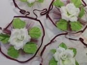 7,13 Фіолетовий з білим фатін,біла квітка,4 шт за 50 грн
