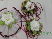 7,2 Білий фатін з зел  та білою квіткою 4 шт за 50 грн