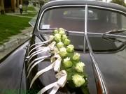 1,14 Екібана поздовжня, троянди+зелень+стрічки, 250 грн