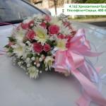4,162 Хризантема+Троянда+Гіпсофіла+Серця, 400-550 грн