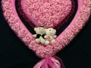 5,26 Велике серце в серці рожеві з ведмедиками 350 грн
