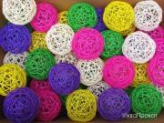деякі кольори кульок ротангу ( є іще відтінки +золото+хром)