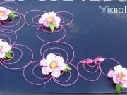 3,29 Композиція на капот, 5 шт по 30 грн кожна. Колір квітки та ротангу - на Ваш  вибір
