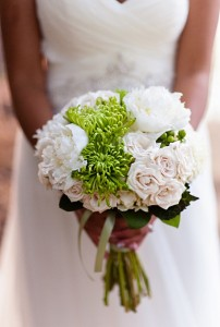 lakefront-summer-wedding-kansas-06-white-roses-peonies-green-chrysanthemums-bridal-bouquet