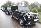 три чорних джипи Mercedes G-клас