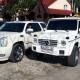 Mercedes G лімузин та білий джип каділак ескалейд