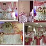 декорація зал на весілля франківську, франківськ декор зали не дорого, прикрашення ресторану на весілля у франківську, декор залу Долина,