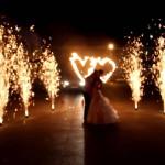 піротехнічне шоу салют на весілля