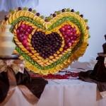 шоколадні фонтани для фруктів на весілля