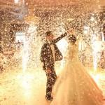 спецефекти на весілля фонтани конфеті