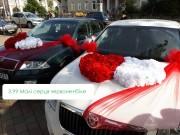прикраси на автомобіль на весілля