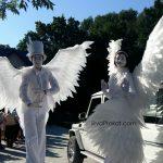 ангели міми, замовити ангели на ходулях
